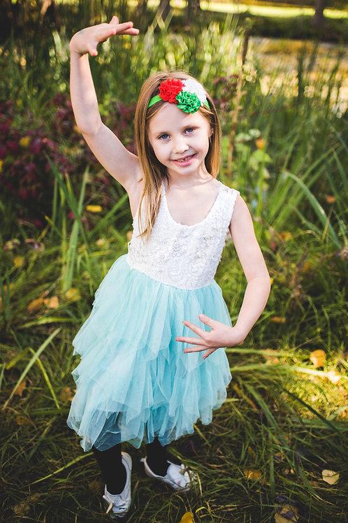 Light Green Sleeveless Tutu Dress