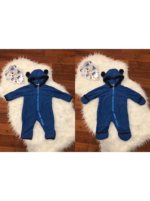 Blue Baby Bear Romper