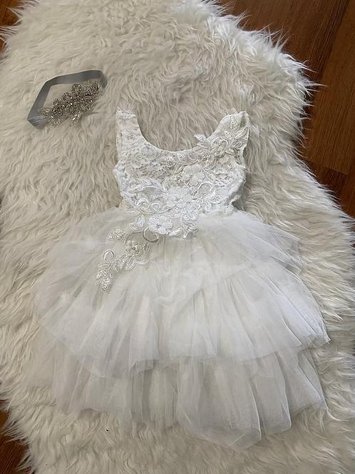 White Sleeveless Tutu Dress #3