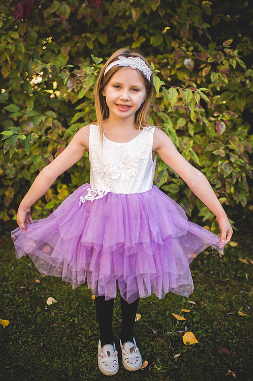 Sleeveless Purple Tutu Dress #2