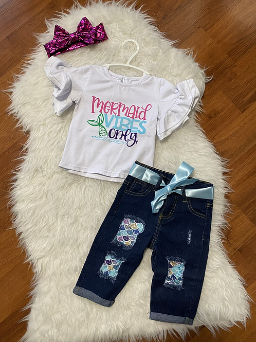 Mermaid Vibes Only Carpi Jeans Outfit