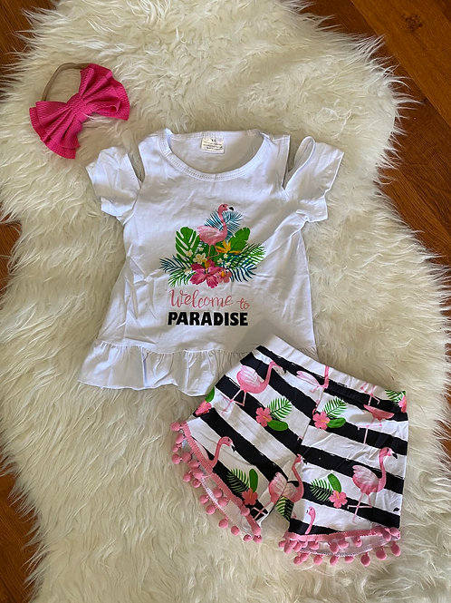 Welcome To Paradise Shorts Outfit