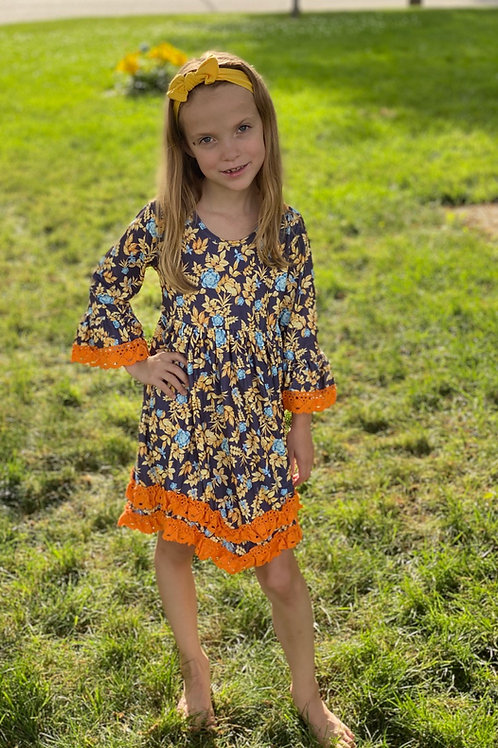 Orange Leaf Dress