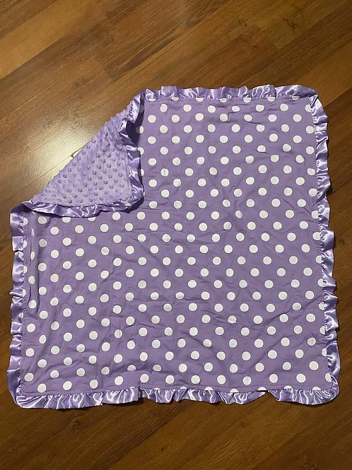 Purple Poke A Dot Baby Blanket