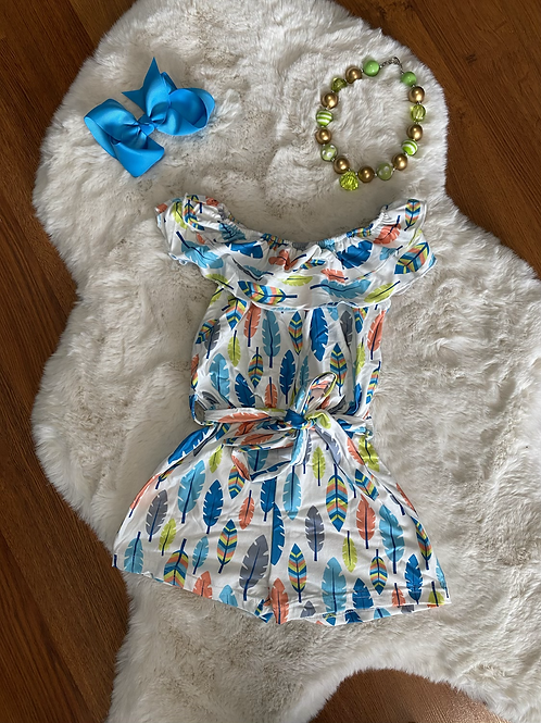 Bright Feather Romper