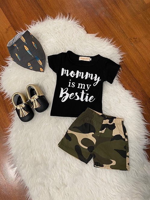 Mommy Is My Bestie Camo Outfit