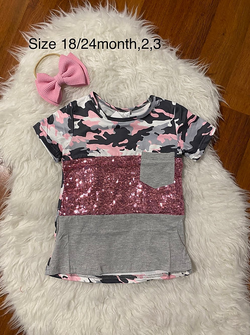 Pink Camo Sparkle Shirt