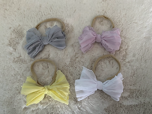 Ruffled Nylon Headbands