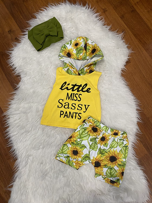 Hooded Little Miss Sassy Pants Outfit