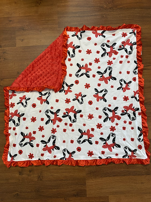 Red Cow Baby Blanket