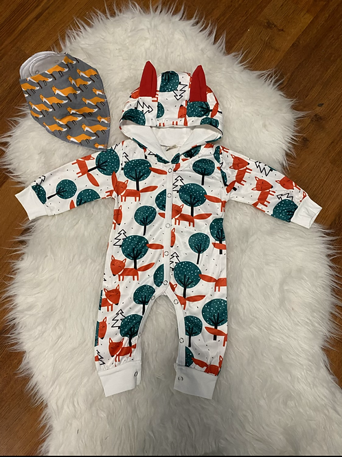 Fox Hooded Romper