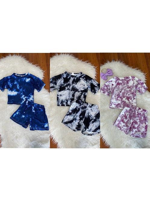 Blue, Black, Purple Tye Dye Outfits