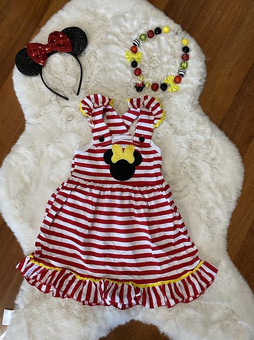 Minnie Inspired Stripe Dress