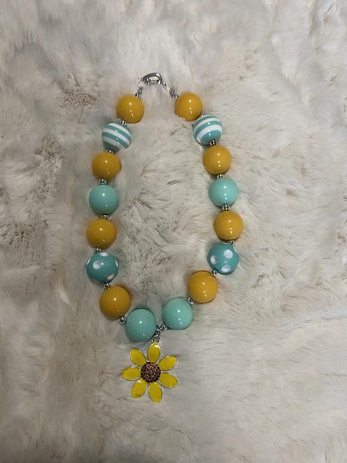 Sunflower Bubble Necklace