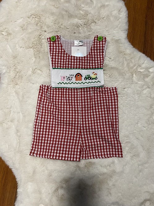 Farm Animal Barn Romper