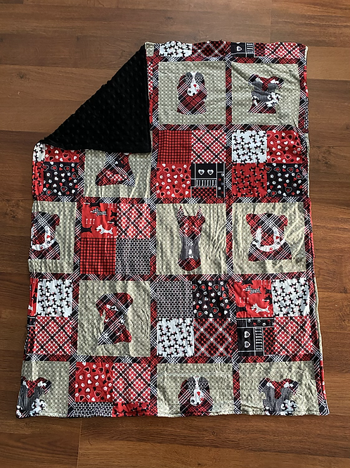 Plaid Dog Baby Blanket
