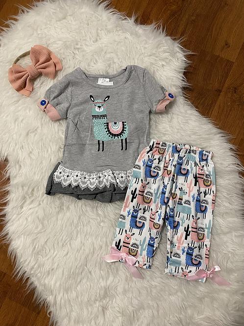 Llama Capri Outfit