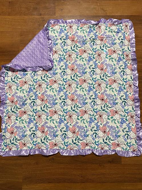 Purple Floral Blanket