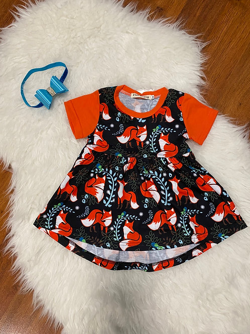 Short Sleeve Fox Dress