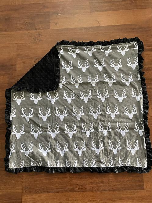 Black/Grey Deer Baby Blanket