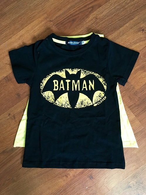 Inspired Super Hero Shirts With Cape Yellow/Black