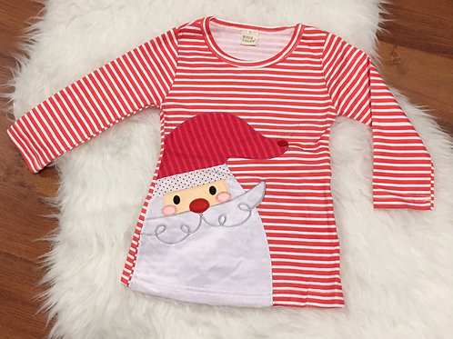 Red Stripe Santa Dress