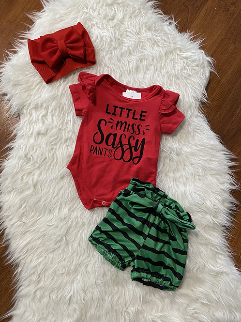 Watermelon Little Miss Sassy Pants Outfit