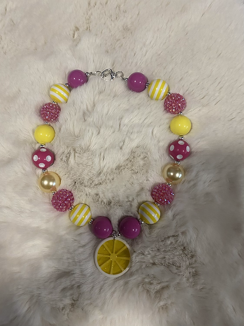 Lemon Bubble Necklace