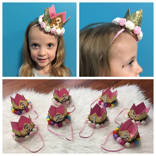 Numbered Crown Headbands