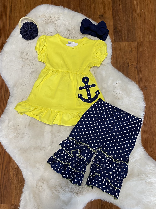 Yellow Sailing Capri Outfit
