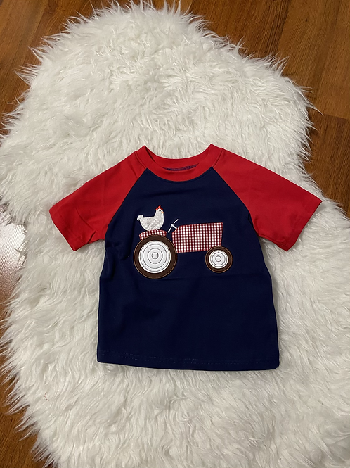 Chicken Riding a Tractor Shirt