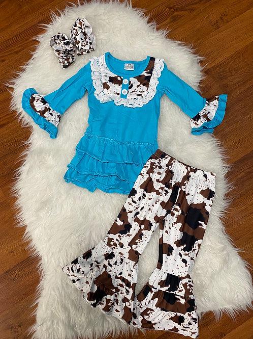 Mooooooo Blue Outfit