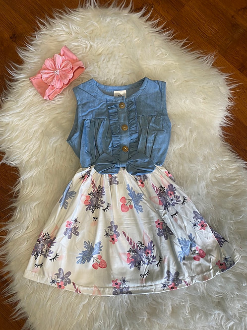 Jean Top Unicorn Dress