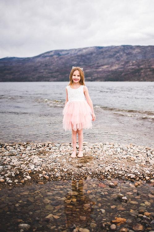 Sleeveless Peachy/pink Tutu Dress #2