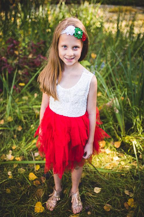 Red Sleeveless Tutu Dress