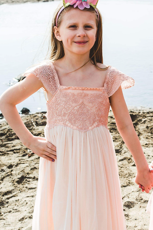 Light Pink Glitter Dress
