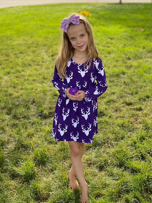 Purple Deer Dress