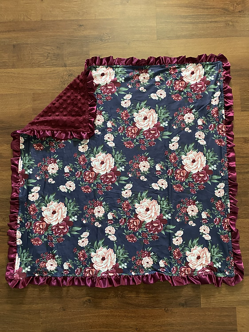Wine Flower Baby Blanket
