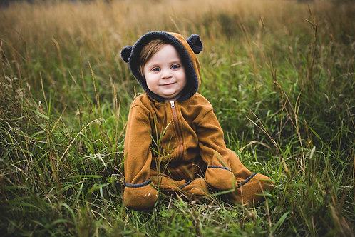 Brown Baby Bear Romper