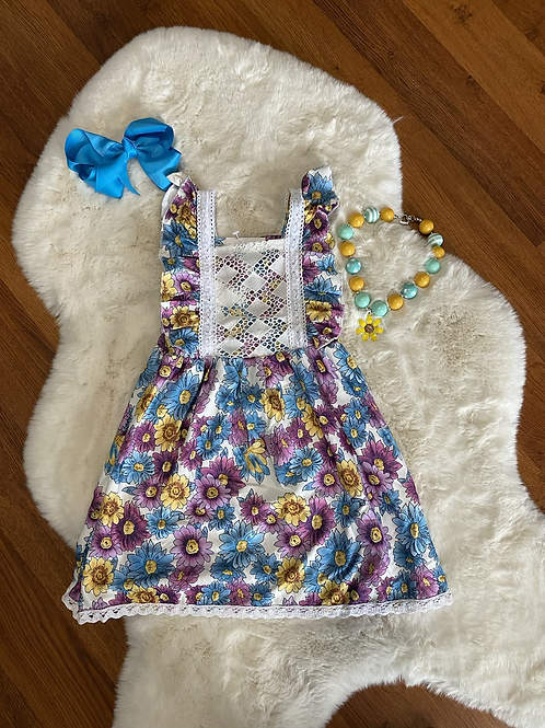 Colorful Lace Flower Dress