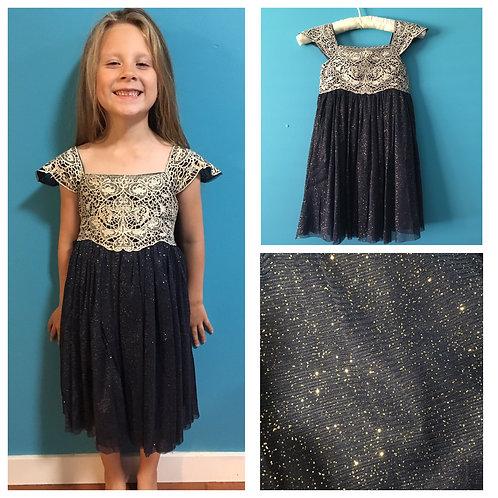 Navy Blue Glitter Dress #2
