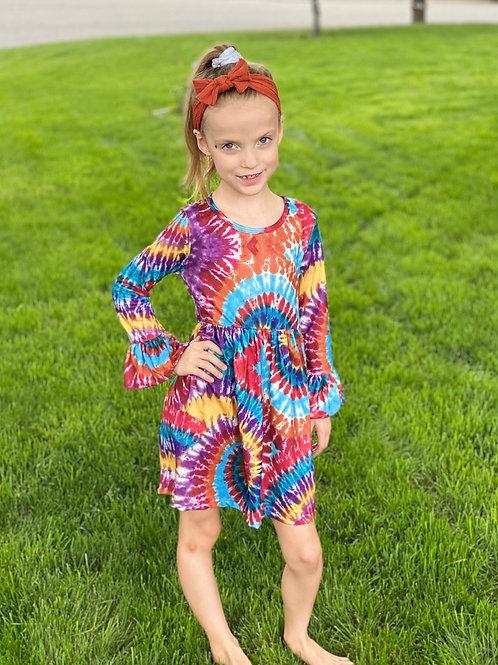 Tye Dye Long Sleeve Dress