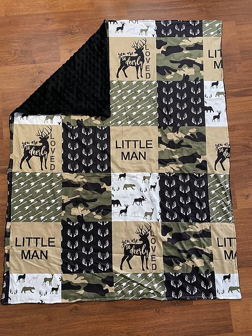 Camo Little Man Baby Blanket