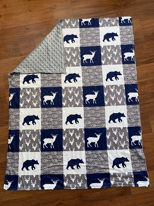 Deer Bear Arrow Baby Blanket