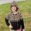 Thumbnail: Black Leopard Lightwight Hooded Sweater