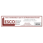 Lesco Federal Credit Union membership is open to all Westmoreland County! Proudly serving the community for 71 years!