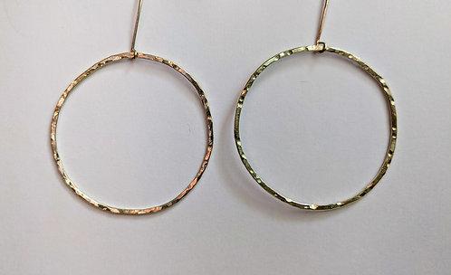 Sterling Circle Hoops