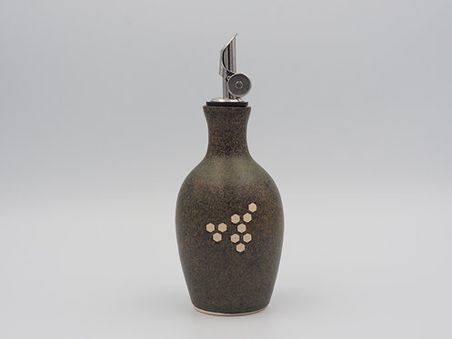 Olive Oil Bottle With Hexagons