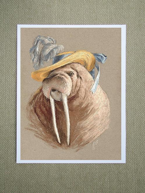 Print, Fancy Walrus
