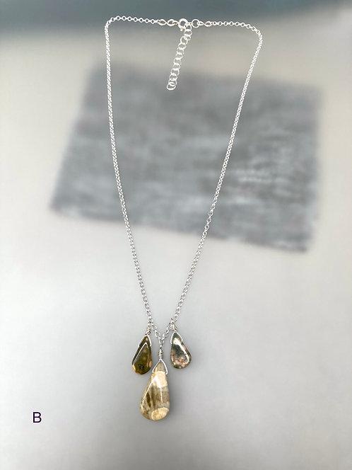 Ocean Jasper 3 Drops Necklace -B-